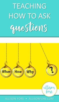 Ideas on teaching how to formulate and ask questions in speech therapy, the class, and home!