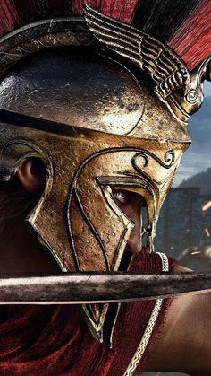 Spartan spartan spartan warrior gladiator viking viking warrior v Viking Warrior, Spartan Warrior, Greek Warrior, Fantasy Warrior, Spartan 300, Warrior Movie, Arte Assassins Creed, Assassins Creed Odyssey, Assassins Creed Tattoo