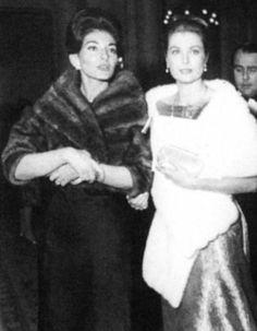 Grace of Monaco and Maria Callas
