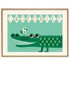 Crocodile Poster by OMM Design (50x70cm)