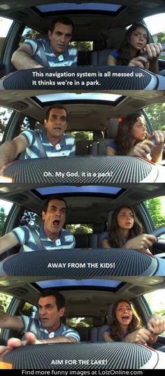 Teaching your daughter to drive... This was totally me and my dad yesterday...