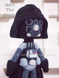 Finished Doll  Darth Vader by AschTinyStudio on Etsy, $22.00