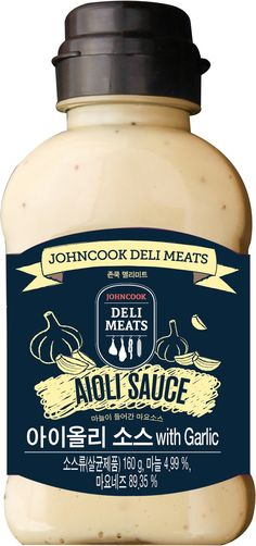 Aioli Sauce with Garlic 160g / Sauce / Food Package Design / Johncook Deli Meats / Korea