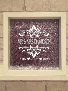 personalised wedding frame / wedding gift / handmade frame / vinyl print / handmade / wedding by Kayleighskeepsake on Etsy