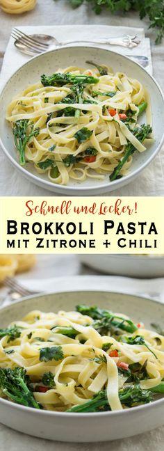 Ein einfaches Rezept für eine leichte Brokkoli Pasta mit Zitrone und Chili. Ich habe dafür frische Zutaten vom Markt verwendet und das leckere Gericht dauert weniger als eine halbe Stunde in der Zubereitung. Ich empfehle dazu einen grünen Salat und ein Knoblauchbrot. Einfache gesunde Rezepte - Elle Republic