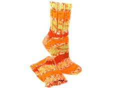 Handknit Socks Super Warm Winter Socks Celery by SlicKnitsSocks #orange