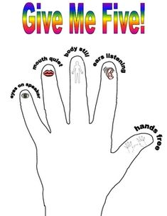 Give Me Five Classroom Management Poster Misty Mabry Classroom Helpers, Classroom Rules, Classroom Posters, Classroom Ideas, 2nd Grade Classroom, Kindergarten Classroom, Student Teaching, Teaching Resources, Teaching Ideas