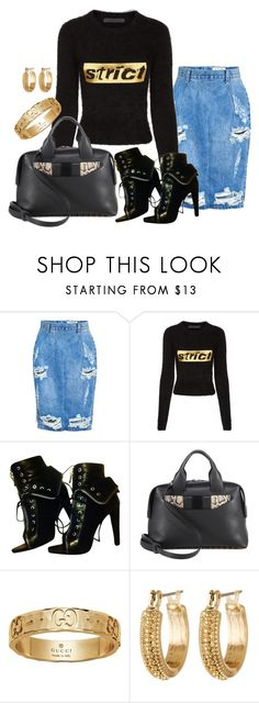 """Untitled #725"" by bsimon-1 ❤ liked on Polyvore featuring OneTeaspoon, Alexander Wang, Gucci and Melrose & Market"