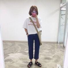 Dress casual simple trousers new ideas Korean Street Fashion, Asian Fashion, 90s Fashion, Daily Fashion, Girl Fashion, Fashion Outfits, Grunge Style, Soft Grunge, Normcore Fashion