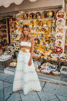 I Love Fashion, Boho Fashion, Fashion Outfits, Cropped Plus Size, Summer Outfits, Summer Dresses, Estilo Boho, Mediterranean Style, Summer Looks