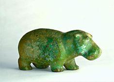 figure of a walking hippopotamus Date1880 BCE (c.)Cultural ContextEgyptian