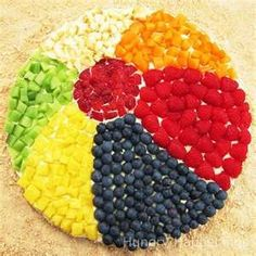 pool party food arranged like a beach ball#Repin By:Pinterest++ for iPad#