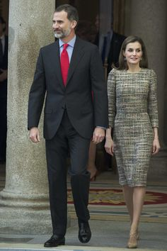 Queen Letizia of Spain Photos Photos - King Felipe VI of Spain and Queen Letizia of Spain attend the National Sports Awards 2015 at the El Pardo Palace on January 23, 2017 in Madrid, Spain. - Spanish Royals Deliver National Sports Awards 2015