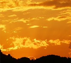 A yellow sunset