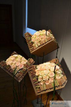 Création art floral autour de la rose pastel