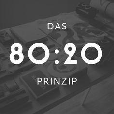 Das 80:20-Prinzip » Zeit zu leben