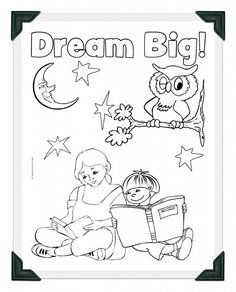 Guildcraft Dream Big Coloring Sheet With Frame