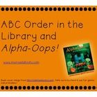 More greatness from MsOReads: Activities for practicing alphabetical order in the library with first and second graders, using Alpha Oops! H is for Halloween. TPT $3.25