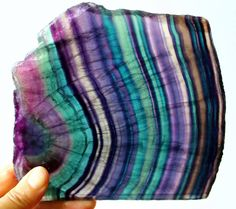 Fluorite-rainbow slab, South Africa. Photo by Joanne Dusatko