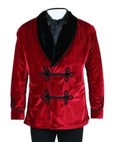 Vintage Smoking Jacket - Red Velvet  #80Days #Theatre #Costumes