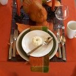 Traditional Thanksgiving Table Setting. #DIY #Decorate #Thanksgiving