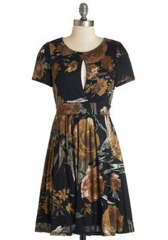 Outdoor Film Festival Dress. Walk the red carpet of tonights indie film debut in this floral frock!  #modcloth