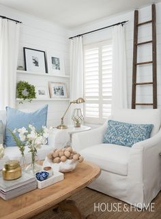 Decor and DIY blogger Kim Power shares a look inside her cottage-inspired home.   Photo: Jason Stickley