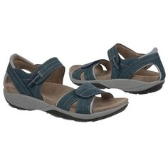 Naturalizer Solaris Sandals (Navy Leather/Blue Nylon) - 8.5 M