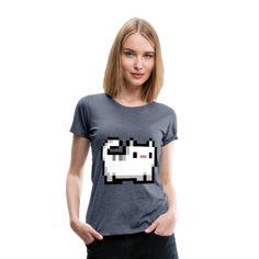 Geschenke Shop | Pixel katze - Frauen Premium T-Shirt Mode Inspiration, Trends, Catwoman, T Shirts, Bordeaux, Sweaters, Shopping, Tops, Gifts