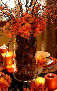 Home With Holliday Elegant And Easy Entertaining Home Design - Colorfulfall table decoration halloween party decorations thanksgiving table centerpieces