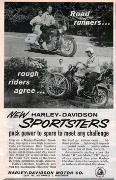 1961 Harley Sportster Advert