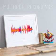 SMALL Personalized Voice Sound Wave Print. by NewtonAndTheApple