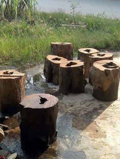Natural Stool Iron Wood