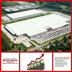 """Flat roof factory building masterpiece using Firestone UltraPly TPO roof membrane.  Every """"Masterpiece"""" marks the attainment of its age and endures as profit, reputation & prosperity. Your investment in Firestone roofing system bringing you faster to your aim.   Firestone endures profit, reputation & prosperity for loong time."""