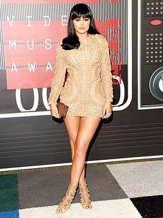 Kylie Jenner Steals Kim Kardashian's Balmain Style at the VMAs 2015 - Us Weekly
