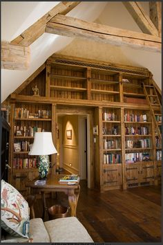 Design by Greene and Associates- Library Design, Libraries, Comfy, Interiors, Warm, Bed, House, Furniture, Ideas