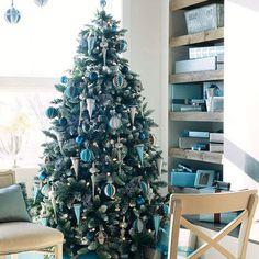 Weihnachtsbaum deko turkis