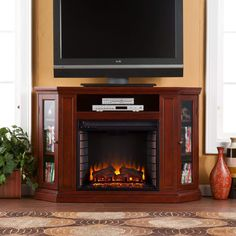 Enhance Your Living Space With Amazing Lowes Fireplace Tv Stand 9