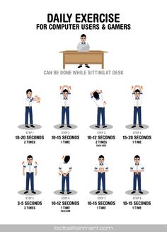 20 exercise for desk workers ideas  exercise workout at