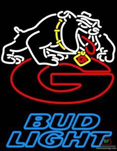 Bud Light Florida State University Georgia Bulldogs Neon Sign NCAA Teams Neon Light