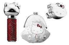 Hello Kitty 40 Sephora, Fragancia Ruby Roller Girl, perfume en anillo de cocktail Ruby Solid y bolsa de maquillaje Milk Money.