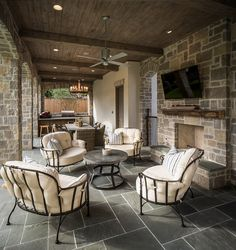 Patio Decorating Ideas. I am loving this patio and the view! #Patio