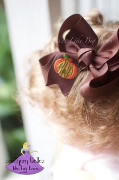 Thanksgiving Bow for Baby, Thanksgiving Bow with Pumpkin Monogram, Fall Hair Bow, Monogrammed Thanksgiving Bow, Pumpkin Bow by BellesLikeBigBows on Etsy https://www.etsy.com/listing/256641152/thanksgiving-bow-for-baby-thanksgiving