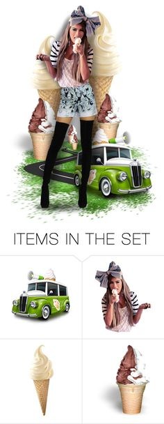 """The Sweet Life... I Scream, You Scream, We All Scream for Ice Cream"" by marvy1 ❤ liked on Polyvore featuring art"
