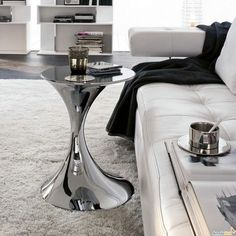 Metal Round Glass Coffee Table