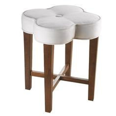 such a cute stool! quatrefoil-shaped seat! This person knows what a quatrefoil is. See you later, I'm following her.