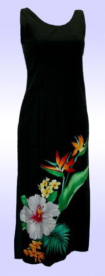 Long Tropical Hawaii Dress, Jade Fashion - Aloha Wear Clothing Store