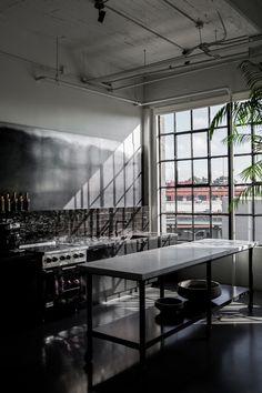 Black studio kitchen in San Francisco More