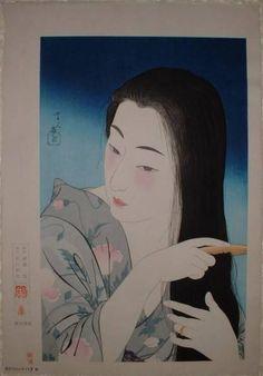 Combing the Hair (Kamisuki)