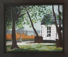 Warmond Park Groot Leerust acryl op paneel 2012